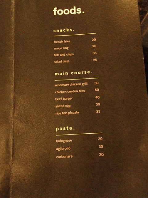 menu makanan di culturehead coffee yogyakarta