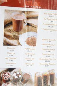 menu silol kopi and eatery jogja